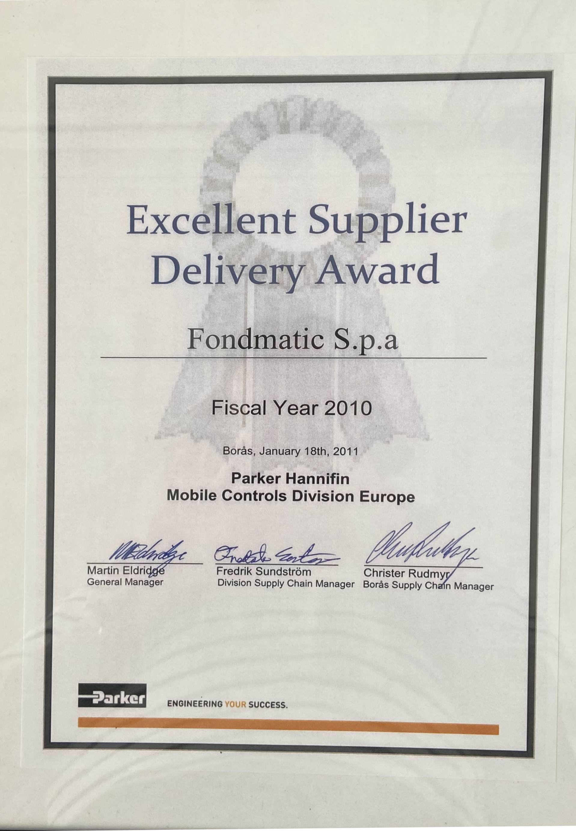Delivery award